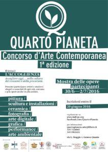 APRILE 2016 - 1ª edizione del Concorso d'Arte Contemporanea QUARTO PIANETA