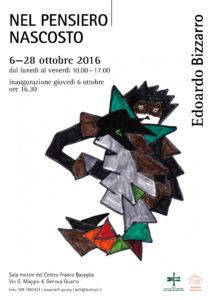 OTTOBRE 2016 - Mostra 'Nel pensiero nascosto'