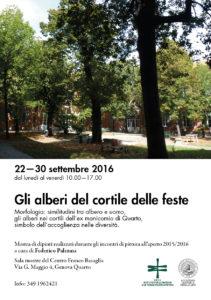 SETTEMBRE 2016 - Gli alberi nel cortile delle feste