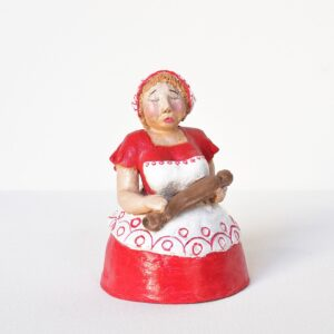 statuina donnina rossa
